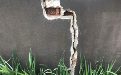 Outstanding Crack Stitching the Cracked Wall on Toorak Rd., Camberwell