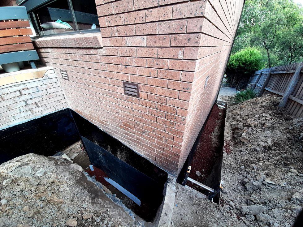 Waterproofing AGI pipe