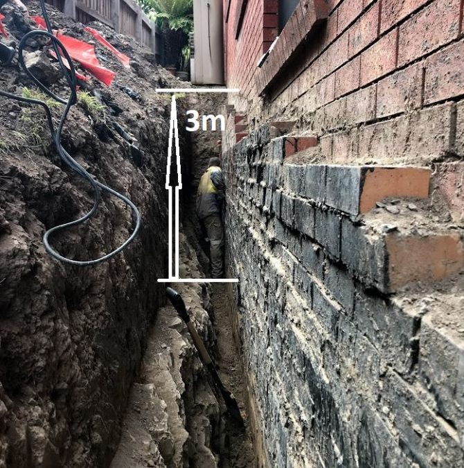 External Waterproofing, Damp Proofing and Crack Injection in Macleod – the job that truly surprised us!